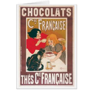 Chocolate ~ Vintage Hot Chocolate Drink Ad Card