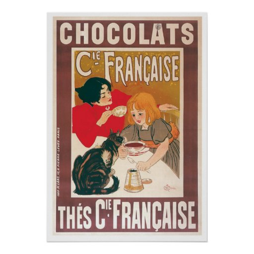Chocolate ~ Vintage Hot Chocolate Drink Ad Poster