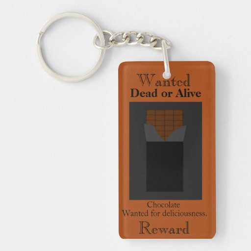 Chocolate Wanted Poster Keychain