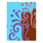 chocolate wave design post card