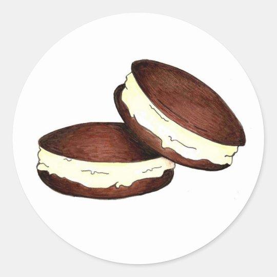 Chocolate Whoopie Pie Pies Dessert Foodie Stickers