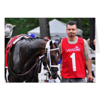 Chocolate Wildcat in the 100th Sanford Stakes Greeting Card