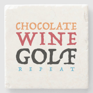 Chocolate Wine Golf Marble Stone Coaster