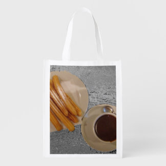 Chocolate y Churros Reusable Grocery Bag