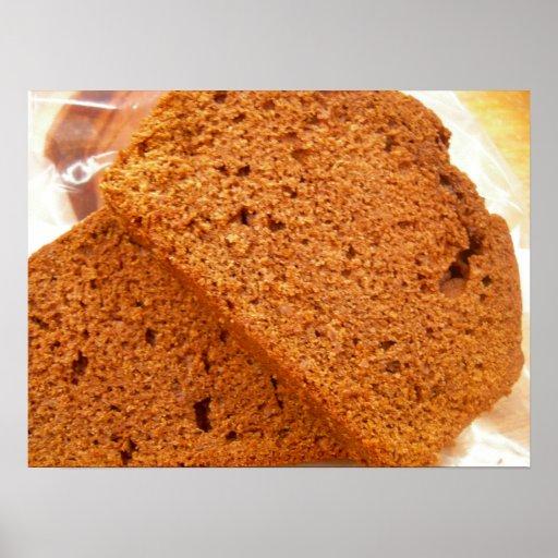 Chocolate zucchini bread poster