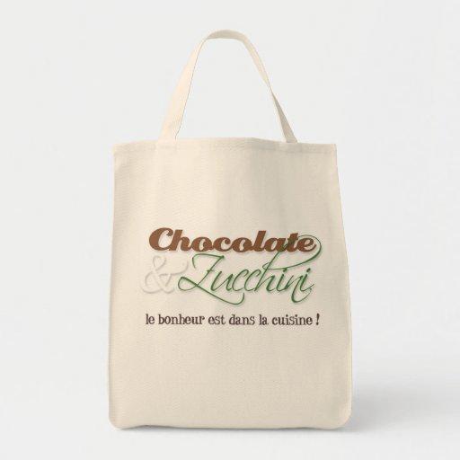 Chocolate & Zucchini Tote Bag