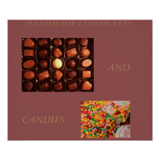 CHOCOLATES AND CANDY  ART POSTER