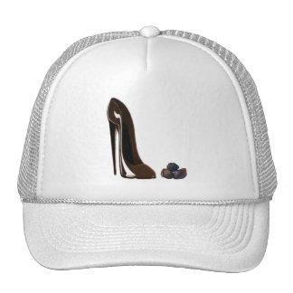 Chocolates and stiletto shoe cap