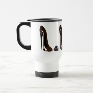 Chocolates and Stiletto Shoe Travel Mug