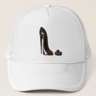 Chocolates and stiletto shoe trucker hat