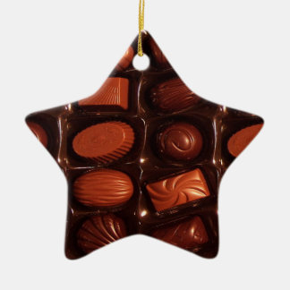 Chocolates Ceramic Star Decoration