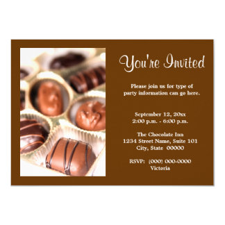 Chocolates Invitations