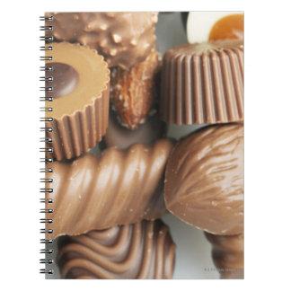 chocolates notebooks