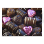 chocolates with pink foil card