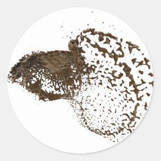 ChocolateSplash Round Sticker