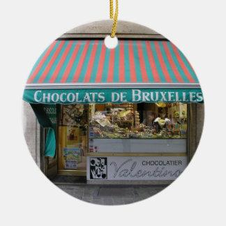 Chocolatier, Brussels, Belgium Round Ceramic Decoration