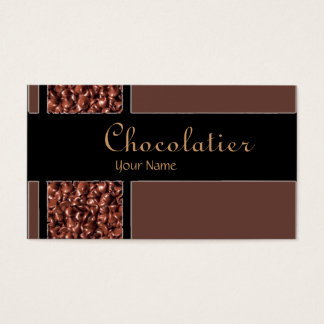Chocolatier chocolate chips custom business cards