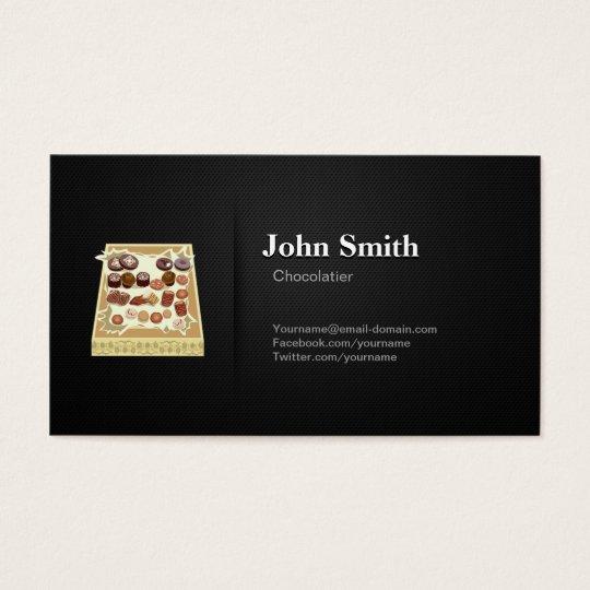 Chocolatier - Professional Premium Black Mesh Business Card