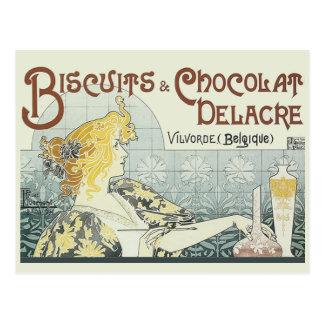 Chocoloate Art Nouveau Postcard