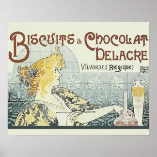 Chocoloate Art Nouveau Poster