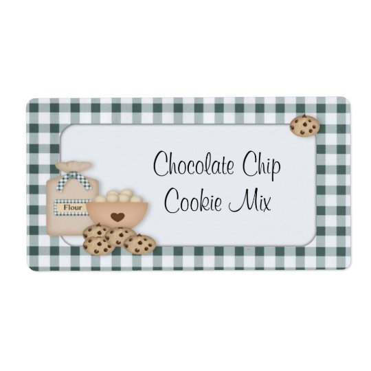 Chocoloate Chip Cookie Label