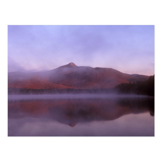 Chocorua Lake Sunrise Fog Postcard