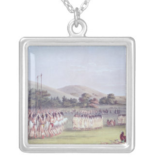 Choctaw Ball-Play Dance, 1834-35 Silver Plated Necklace