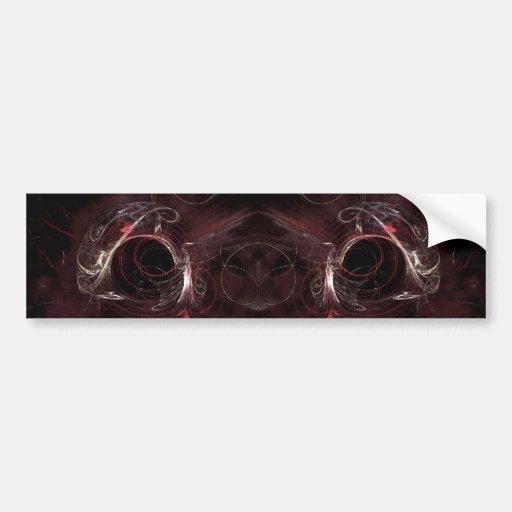 Choice of Direction, Fractal Art Design. Bumper Sticker