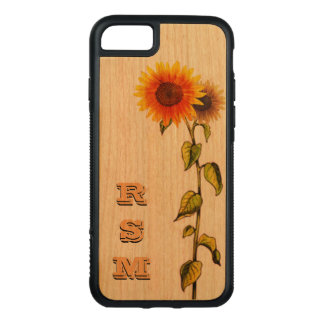 Choice of wood Daisies Carved iPhone 8/7 Case
