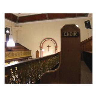 choir bench calendar personalized flyer