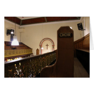 choir bench card