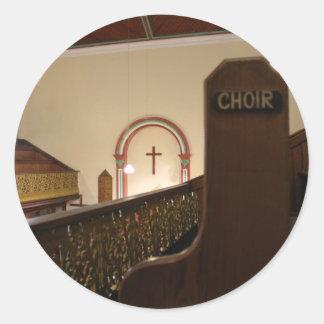 choir bench classic round sticker