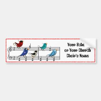 Choir Birds Car Bumper Sticker