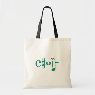 choir budget tote bag