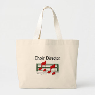 Choir Director Notes Large Tote Bag