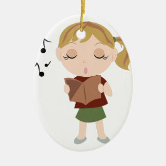 Choir Girl Christmas Ornament