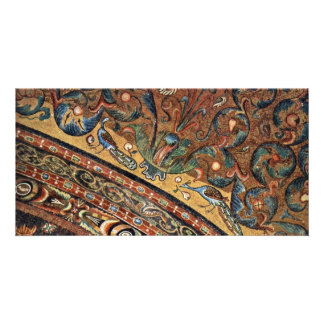 Choir Mosaics At San Vitale In Ravenna Vault Scene Photo Greeting Card