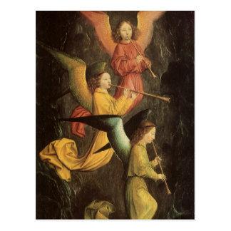 Choir of Angels by Simon Marmion, Renaissance Art Postcard