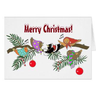 Choir of Birds Christmas Ukrainian Folk Art Card