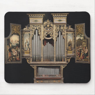 Choir organ with open panels mouse pad