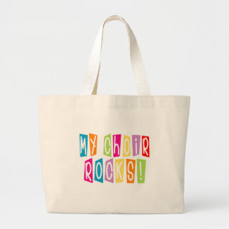 Choir Rocks Director Large Tote Bag