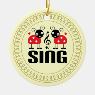 Choir Sing Ladybug Music Ornament Gift