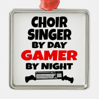 Choir Singer by Day Gamer by Night Christmas Ornament