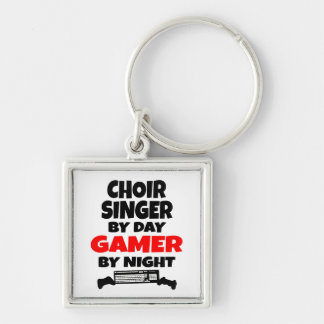 Choir Singer by Day Gamer by Night Key Ring