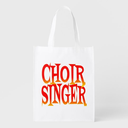 Choir Singer in Bright Colours Reusable Grocery Bag