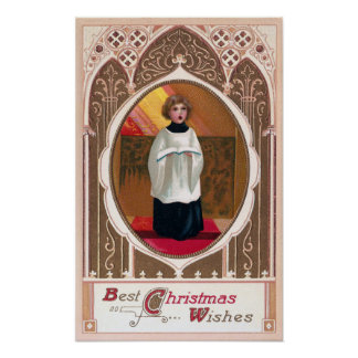 Choirboy Vintage Christmas Poster
