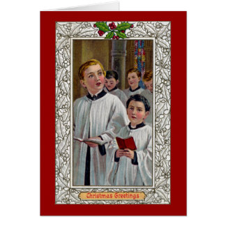 Choirboys Singing Christmas Carols Card