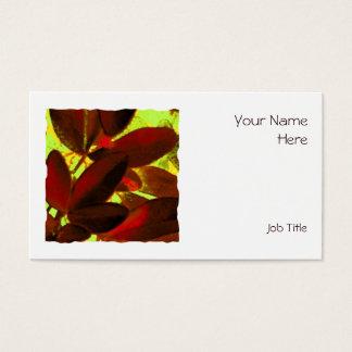 Choisya Autumn 2 square business card white