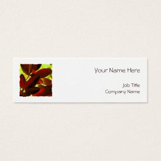 Choisya Autumn 2 square template white skinny Mini Business Card