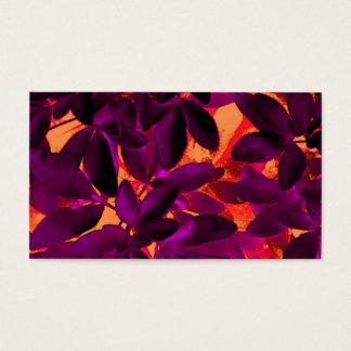 Choisya Autumn 3 business card template white